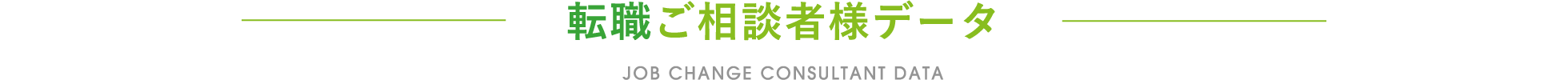 転職ご相談者様データ / JOB CHANGE CONSULTANT DATA